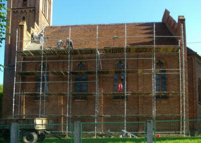 remont dachu nad nawą główną 1