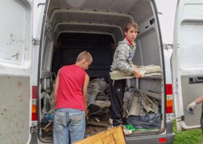Zbieranie śmieci sierpień 2011 5